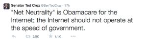 Ted Cruz Tweet